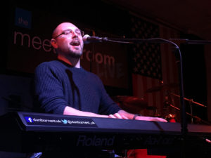 Dan Burnett plays keyboards